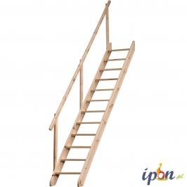 Schody drewniane proste i wewnętrzne