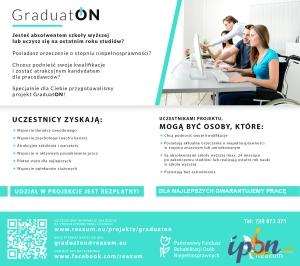 Płatny staż - absolwent/student z niepełnosprawnością