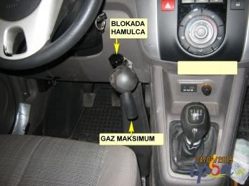 Ręczny hamulec i gaz