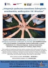 Integracja społeczno-zawod. w Subreg. wrocławskim, wałbrzyskim i M. Wrocław
